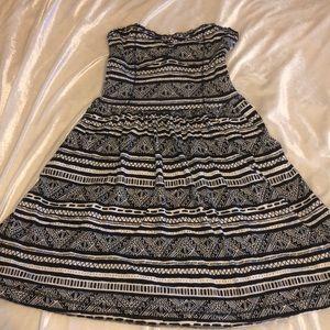 Aeropostale Tribal Strapless Print Dress
